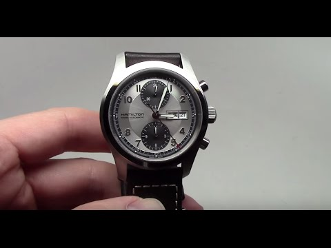 bb8c1b903 Hamilton Khaki Field Chrono Automatic Men's Watch Review Ref: H71566553
