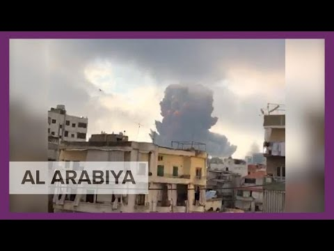 Compilation of videos show moment explosions rip at Beirut port