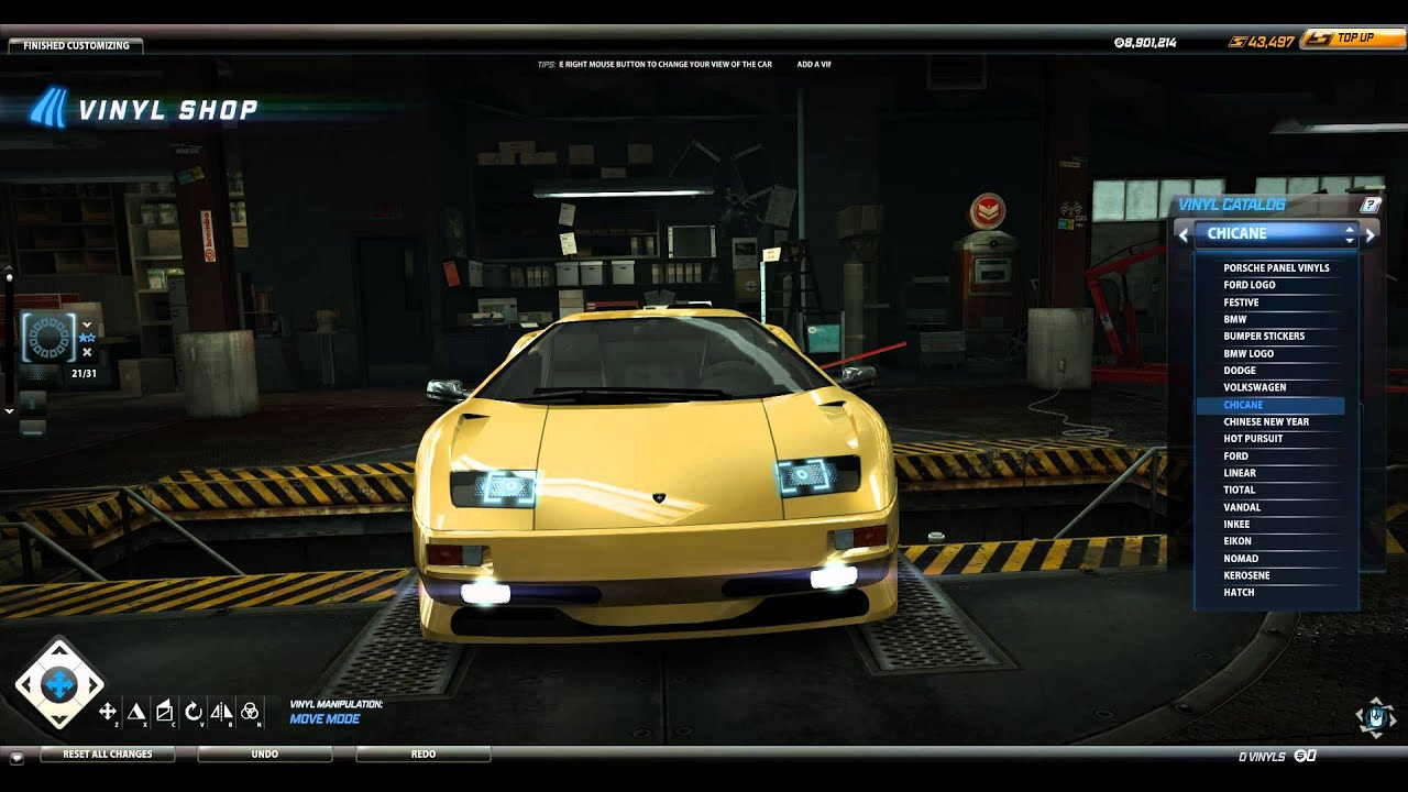 Need For Speed World Headlight Decal Lamborghini Diablo Sv Youtube