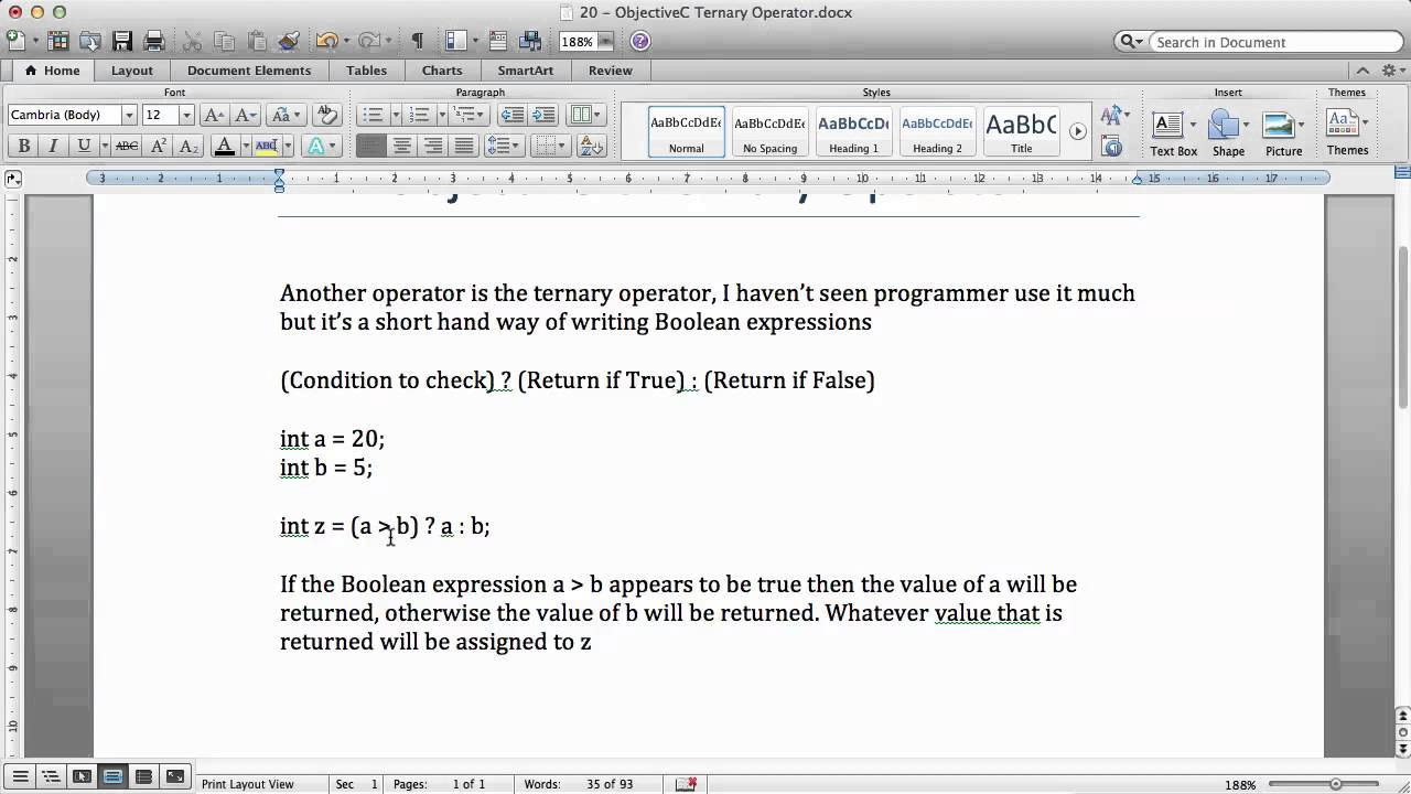 Objective c tutorials 20 ternary operator youtube objective c tutorials 20 ternary operator baditri Image collections