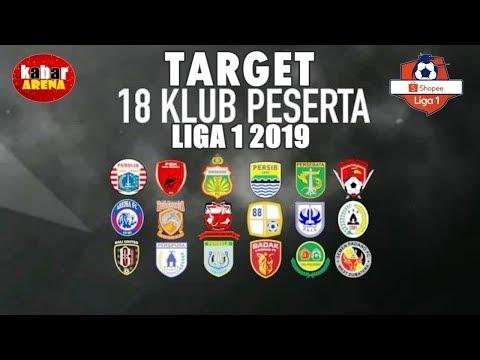 Ini Target Tinggi 18 Klub Peserta Shopee Liga 1 2019