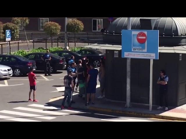 Altercado y amenazas en la puerta del Hospital Clínico de Salamanca