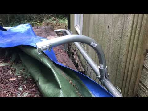 DIY Simple Dog Run Roof-Chain Link Kennel Addition for Overhead Cover