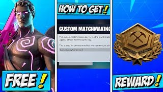 How To Get FREE Dark Love Ranger! Play CUSTOM MATCHMAKING! Fortnite SHINY PIN REWARD UNLOCK LEAKED?