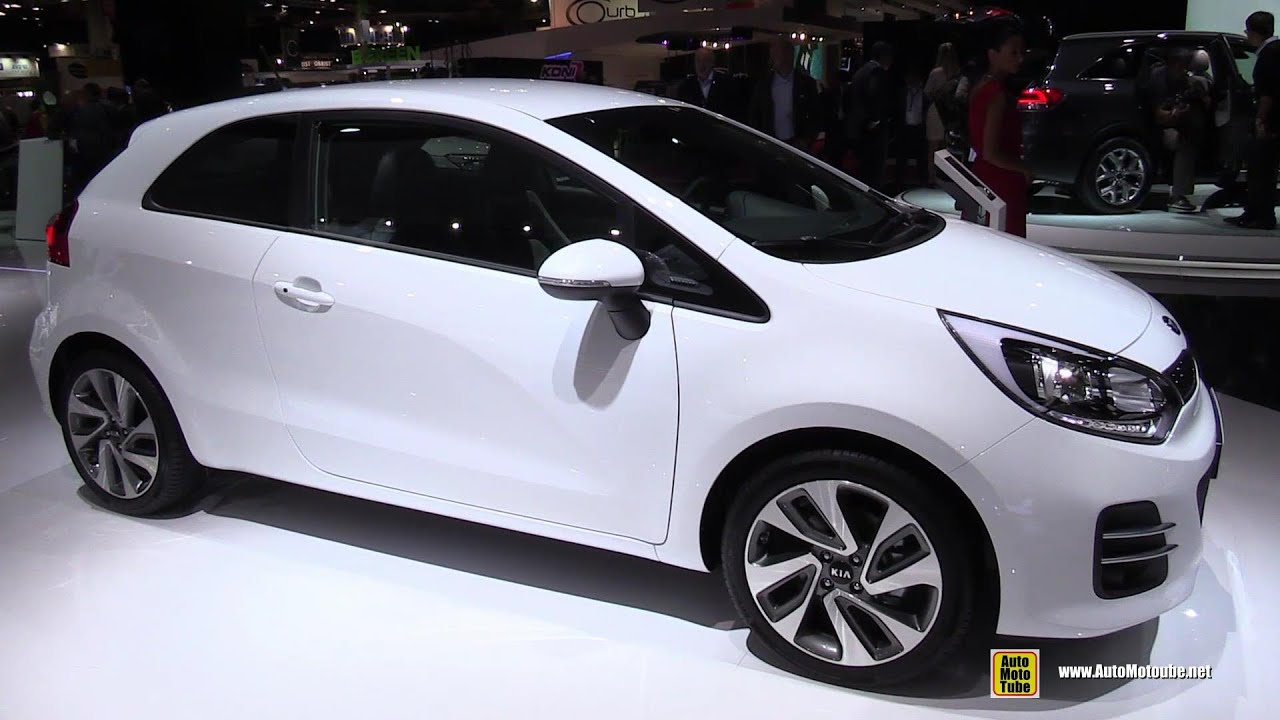 2015 kia rio 1 2 mpi 3 door exterior and interior walkaround 2014 paris auto show youtube. Black Bedroom Furniture Sets. Home Design Ideas