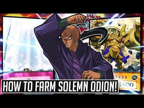 How To Farm SOLEMN ODION At Level 40! NO SKILL REQUIRED! [Yu-Gi-Oh Duel  Links]