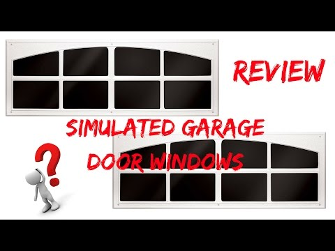 Garage Door WIndows! Are They Real? Coach House Accents Déco