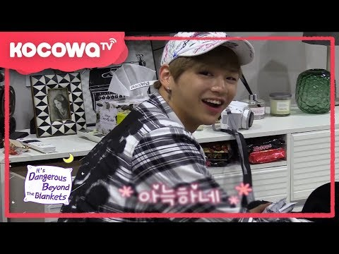 [It's Dangerous Beyond the Blankets] Ep 1 _ WANNA ONE Kang Daniel loves gummy bears