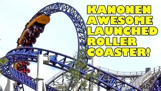 Kanonen AWESOME Launched Roller Coaster Front Seat View POV Liseberg Sweden