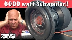 Massive Audio 6000 watt RMS Subwoofer!! [4K]