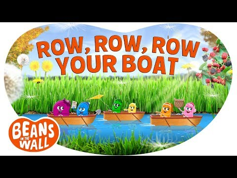 Row, Row, Row Your Boat | Kids Songs | Beans in the Wall