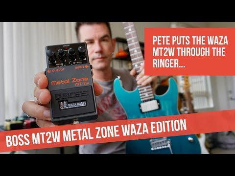 NEW BOSS MT2W WAZA METAL ZONE DEMO BY PETE THORN
