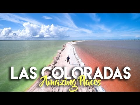 LAS COLORADAS YUCATAN - THE RAINBOW SALT FLATS OF MEXICO