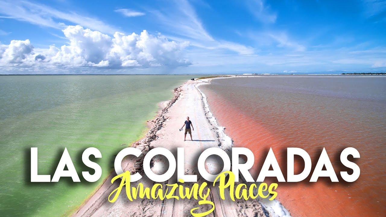 Las Coloradas Yucatan The Rainbow Salt Flats Of Mexico