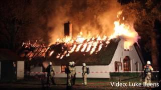 Twee uitslaande branden tegelijk op Landgoed de Paalhoeve   Kootwijk 31 10 2016
