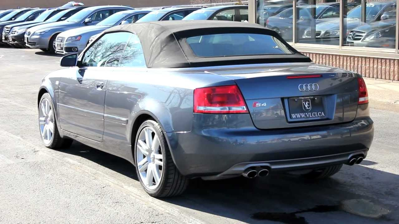2007 Audi S4 Convertible In Review Village Luxury Cars