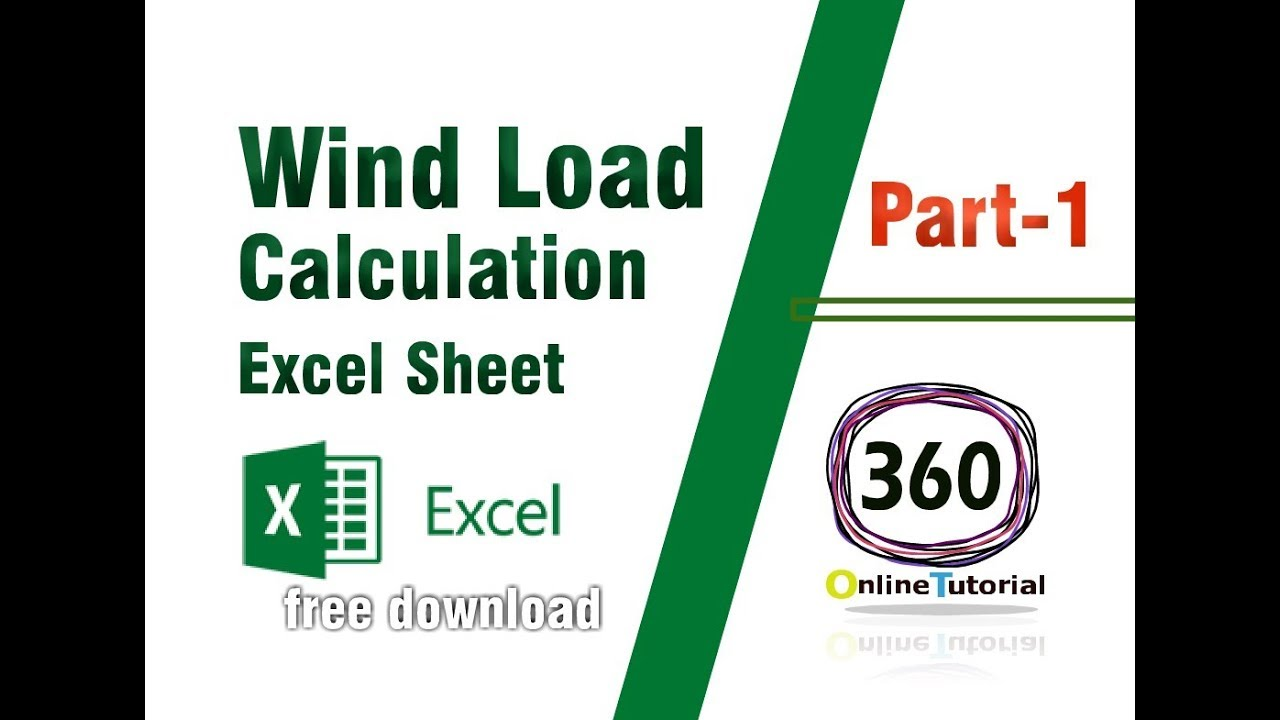 Wind Load Calculation by Excel sheet- part 1  ( Free download Excel Sheet)