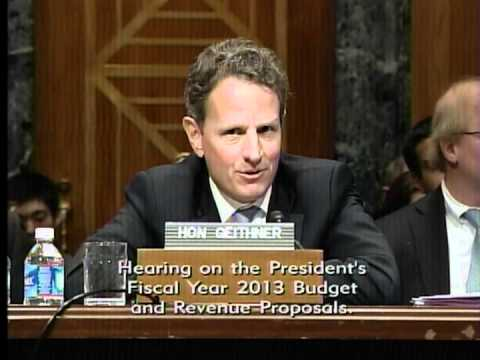 Senator Johnson Questions Treasury Secretary Geithner at Senate Budget Committee Hearing