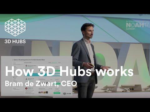 CEO Bram de Zwart shows how 3D Hubs works at Noah Conference London