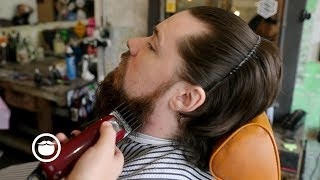 Big Time YouTuber Gets First Barbershop Beard Trim