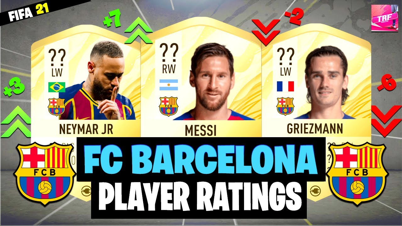 Fifa 21 Fc Barcelona Player Ratings Predictions Ft Messi Neymar Griezmann Etc Youtube