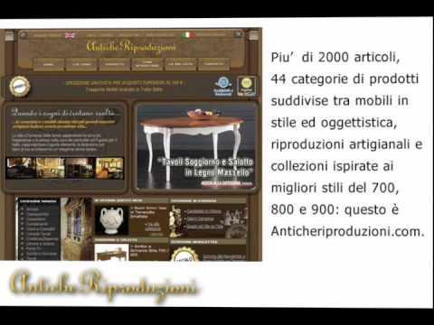 Antiche riproduzioni mobili classici e arredamento in for Riproduzioni mobili design