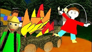 Playtime Goes Camping with Baldi! (Baldi's Basics Roleplaying in Roblox)
