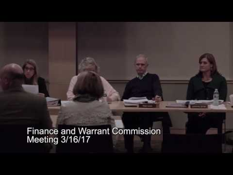 Finance and Warrant Commission meeting 3/16/17