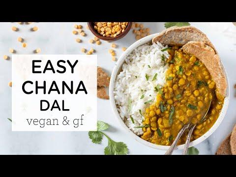 EASY CHANA DAL RECIPE ‣‣ healthy vegan dinner idea