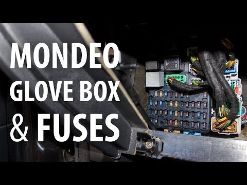 How to: Remove glove box & access fuses, Ford Mondeo Mk3 - YouTubeYouTube