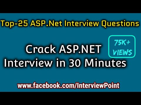 Top-25 ASP.NET Interview Questions and Answer By D. K. Gautam || .Net Interview Questions