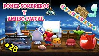 Como poner sombreros y amiibo Pascal - Animal Crossing Home Designer #28