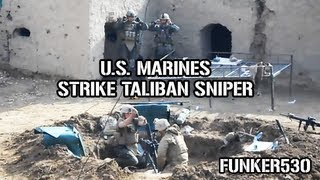 US Marine Mortar Team Hits Taliban Sniper