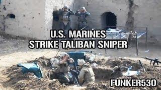 US Marine Mortar Team Hits Taliban Sniper