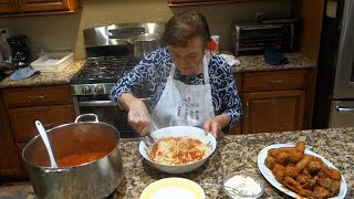 Italian Grandma Makes Sunday Sauce/Gravy with Meatballs