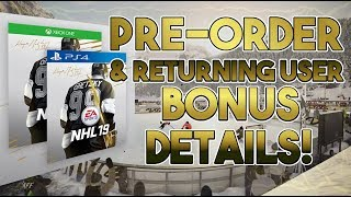 NHL 19 News | Preorder and Returning User Bonus (Loyalty Rewards)