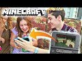 Surprising my little sister w/ Minecraft on the 3DS!! (she can FINALLY play!)