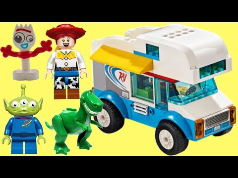 Disney Pixar TOY STORY 4 Lego RV Vacation Play Set with Forky, Jessie, Alien, Rex