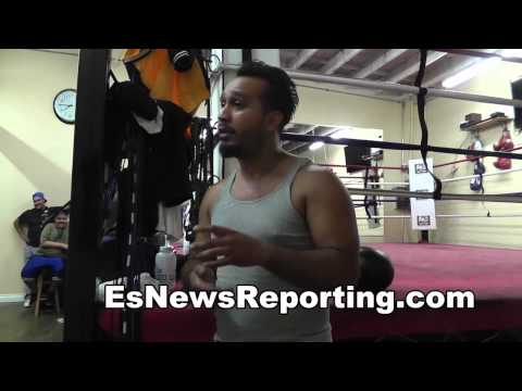 jorge diaz on working with new fighters Es boxing