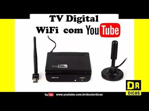 Tv Digital com Youtube e WIFI Conversor e Receptor - Doutor Dicas