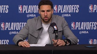 Klay Thompson Postgame Interview - Game 6 | Warriors vs Rockets | 2019 NBA Playoffs