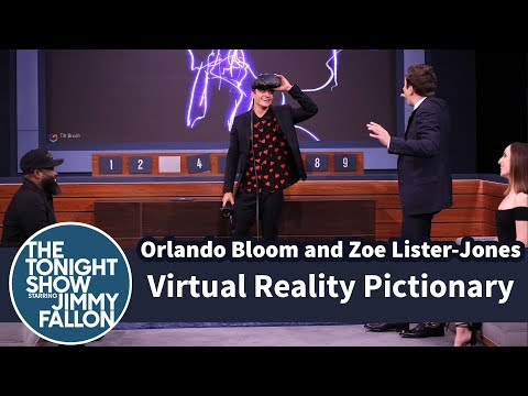 Virtual Reality Pictionary with Orlando Bloom and Zoe ListerJones