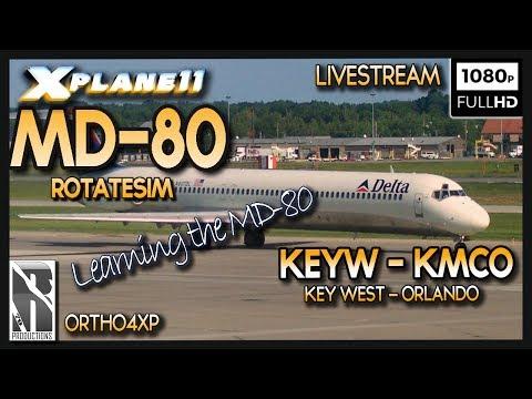 XP11 | RotateSim MD-80 | Livestream | Key West to Orlando | KEYW-KMCO