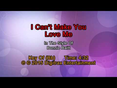 Bonnie Raitt - I Can't Make You Love Me (Backing Track)