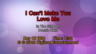 Bonnie Raitt - I Can't Make You Love Me (Backing Track)