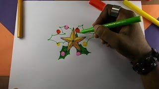 How to draw a christmas star