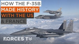 RAF F-35Bs Scramble With F-15s And Rafales To Defeat An Enemy | Forces TV