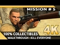 Sniper Elite 3 (PC) - 4K Gameplay - Mission 5 - Siwa Oasis [100% Walkthrough] [Kill Everyone]