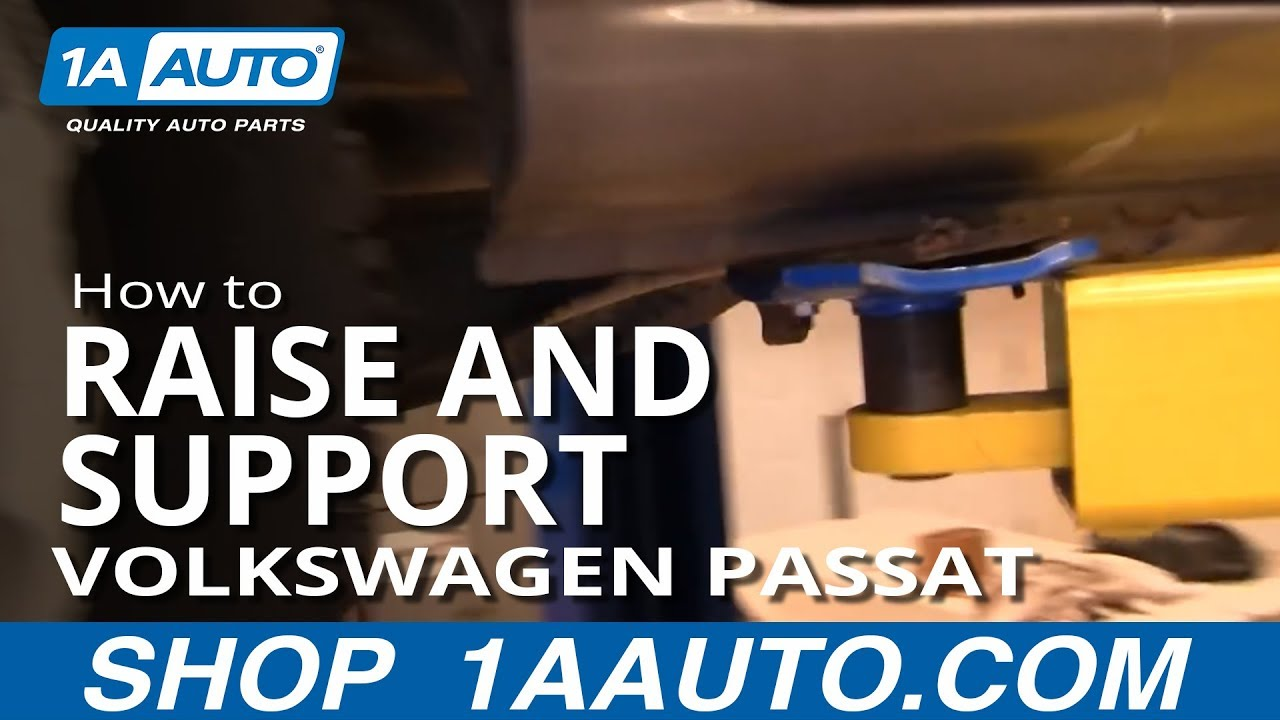 Where To Jack Up And Support Volkswagen Passat YouTube - Audi car jack instructions