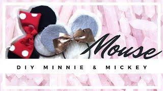DIY Disney Mickey und Minnie Mouse Ohren 😮